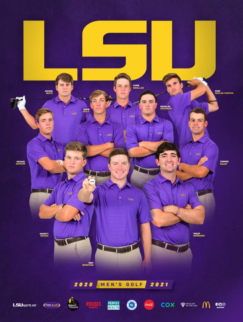 2020-21 LSU Mens Golf Poster