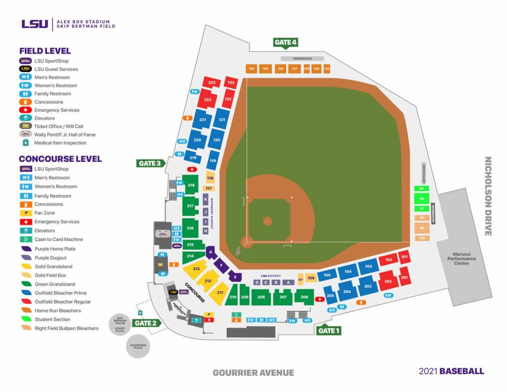 2021 Alex Box Stadium Seating Chart