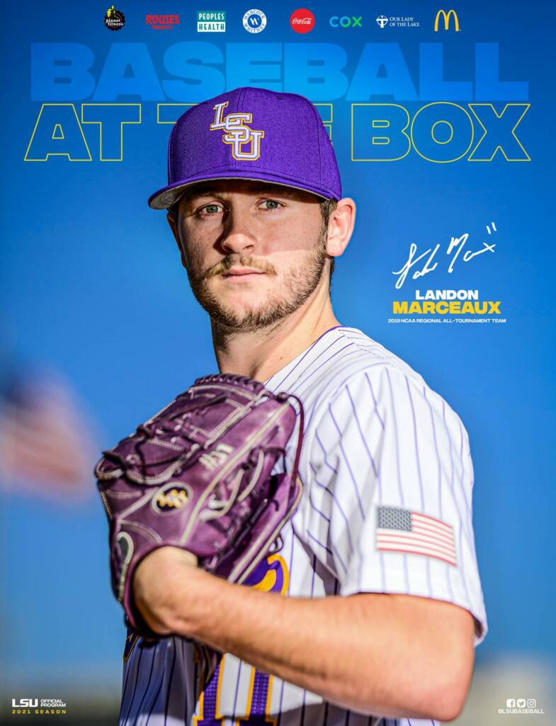 2021 LSU Baseball Game Program Cover 3