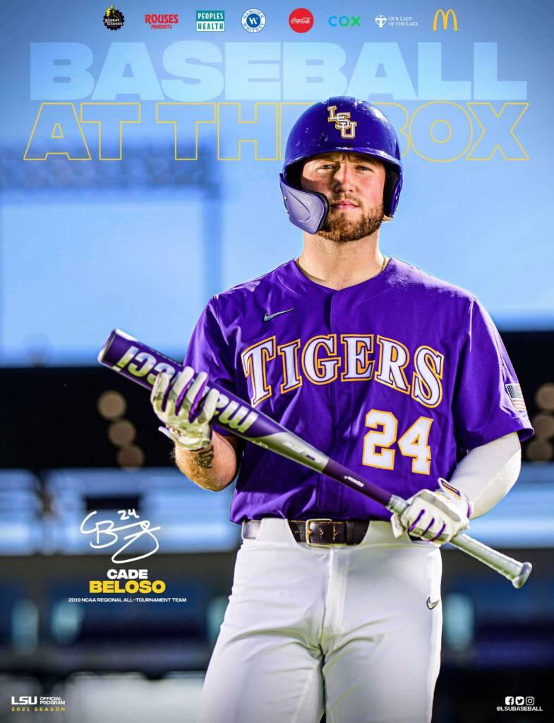 2021 LSU Baseball Game Program Cover 5