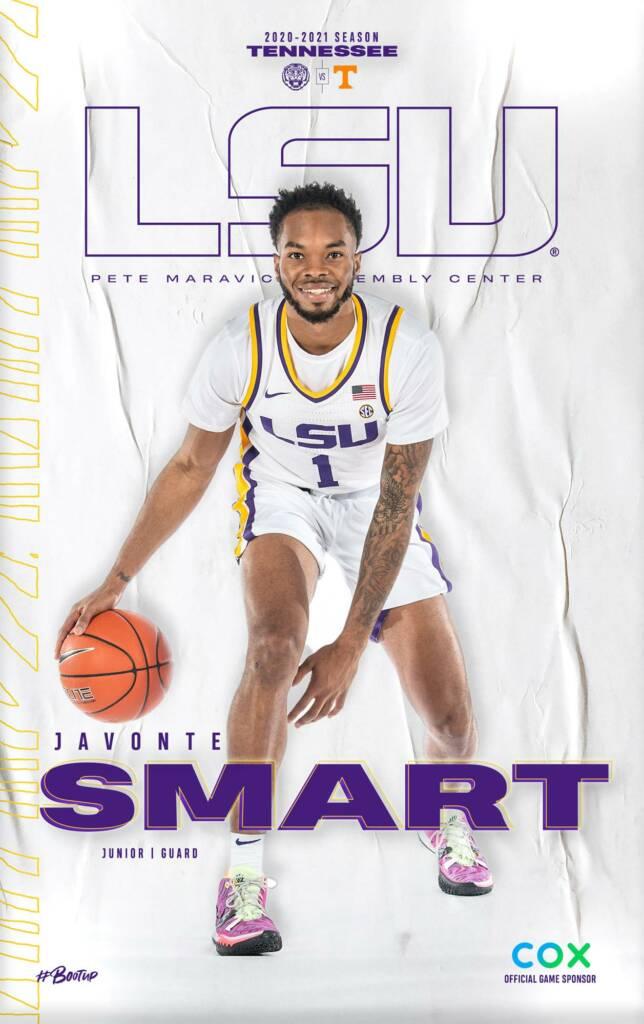 2020-21 LSU Mens Basketball Game Program Cover 12