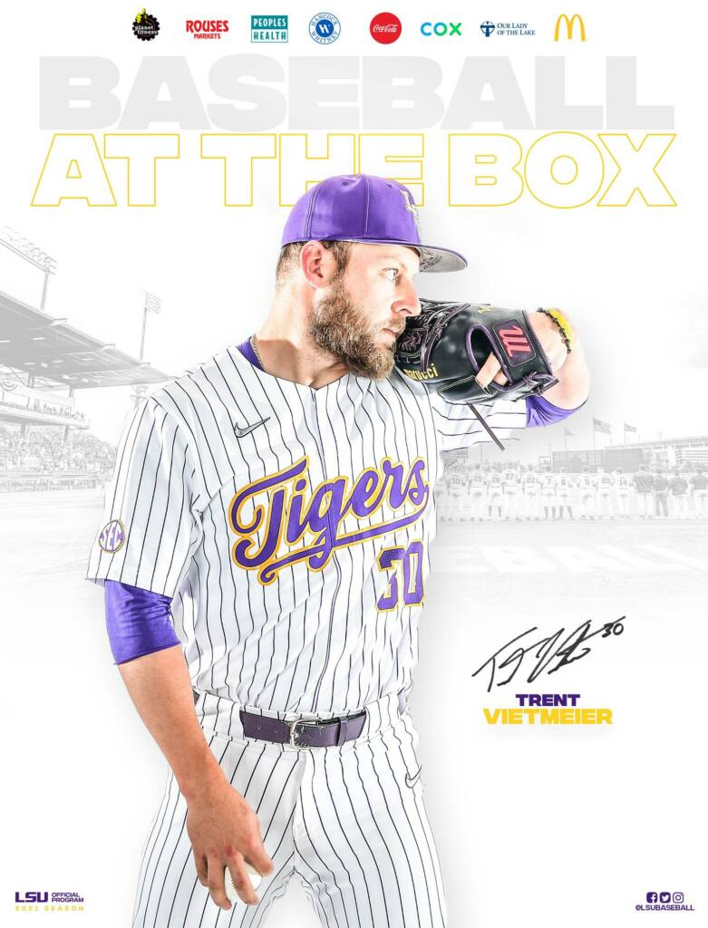 2021 LSU Baseball Game Program Cover 9