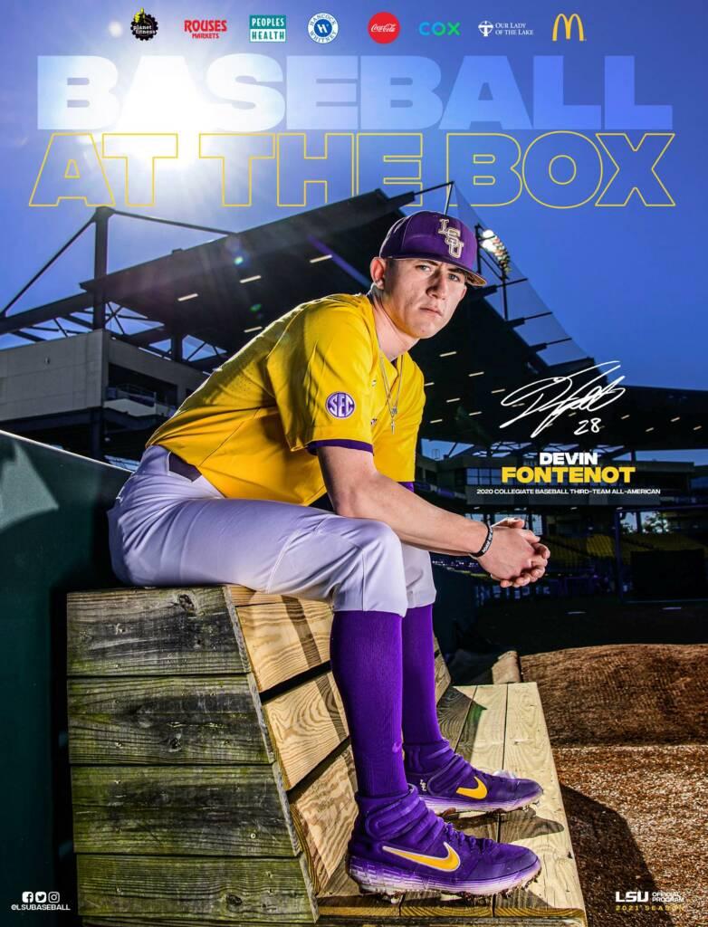 2021 LSU Baseball Game Program Cover 2