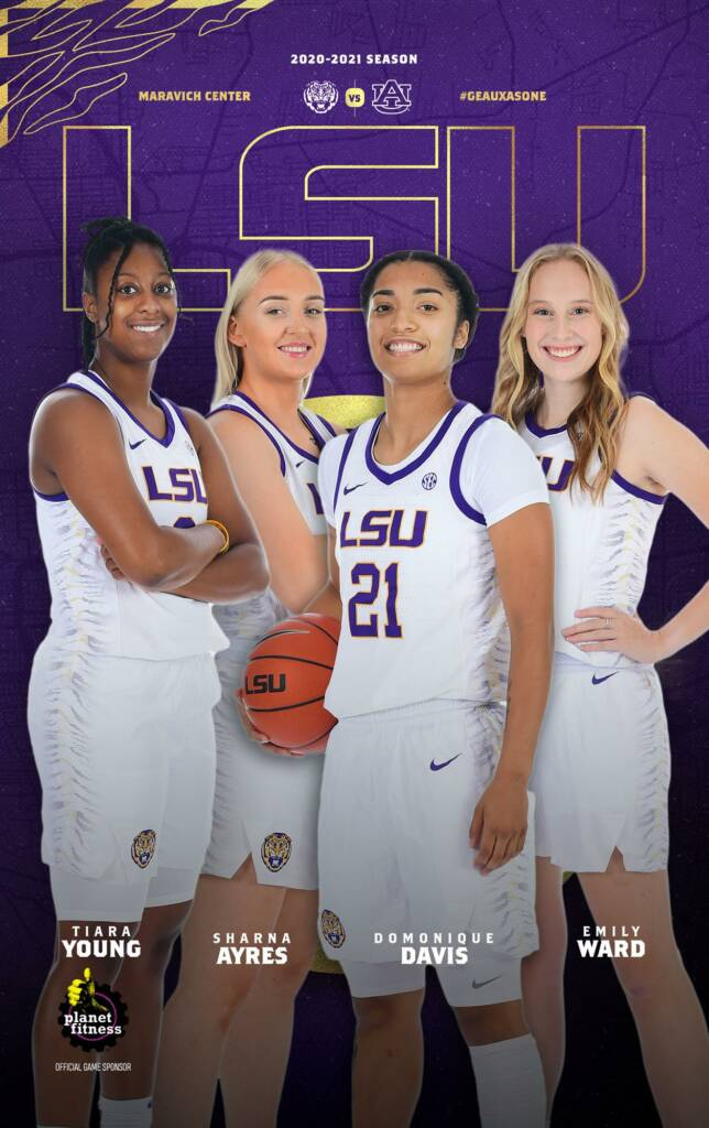 2020-21 LSU Womens Basketball Game Program Cover 3