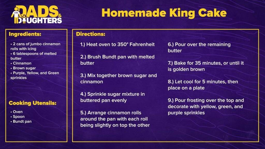 Dads and Daughters - Homemade King Cake