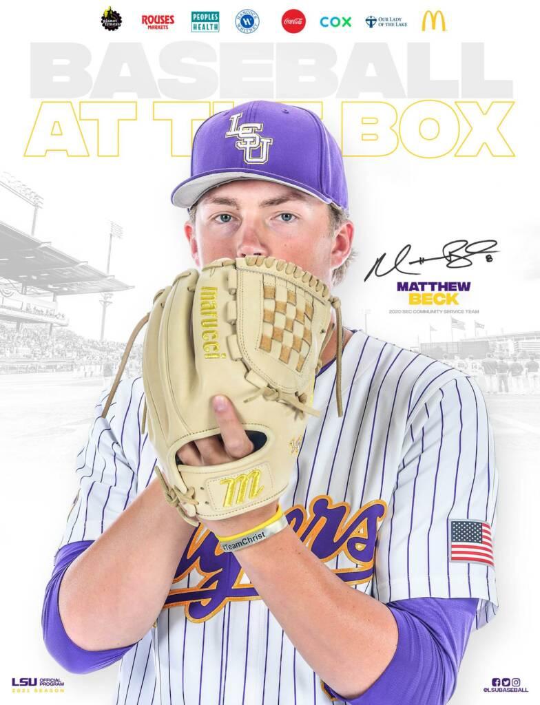 2021 LSU Baseball Game Program Cover 1