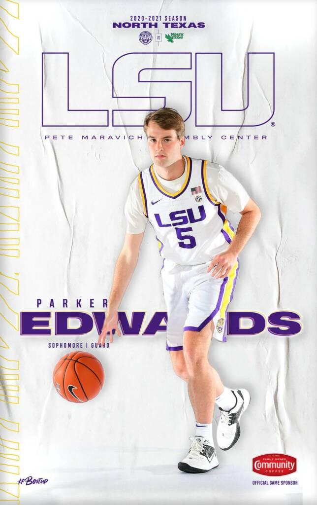 2020-21 LSU Mens Basketball Game Program Cover 3