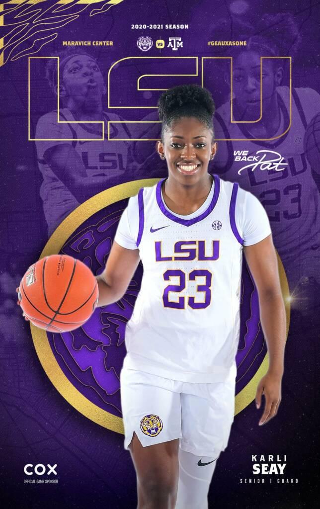 2020-21 LSU Womens Basketball Game Program Cover 5