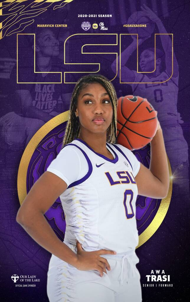 2020-21 LSU Womens Basketball Game Program Cover 7