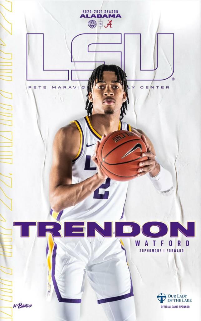 2020-21 LSU Mens Basketball Game Program Cover 9