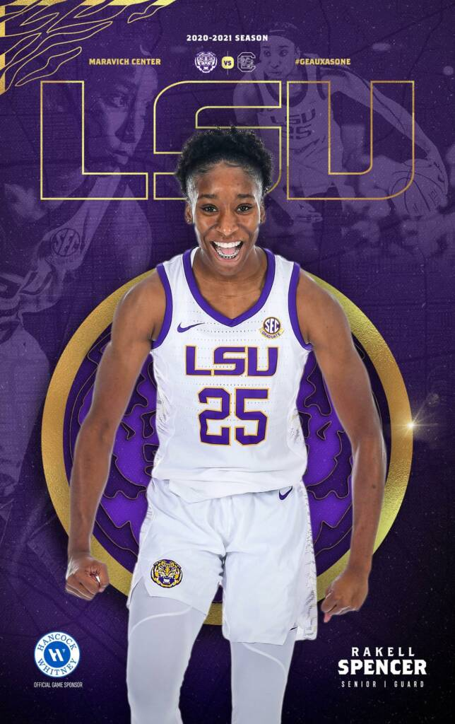 2020-21 LSU Womens Basketball Game Program Cover 6