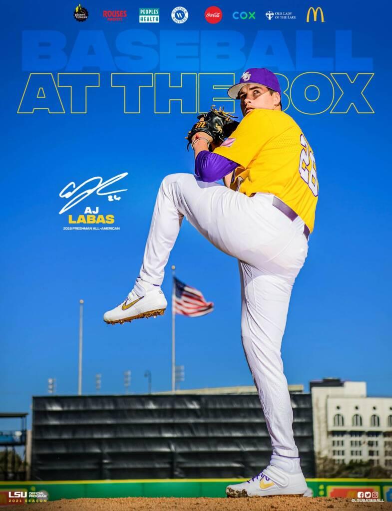 2021 LSU Baseball Game Program Cover 7