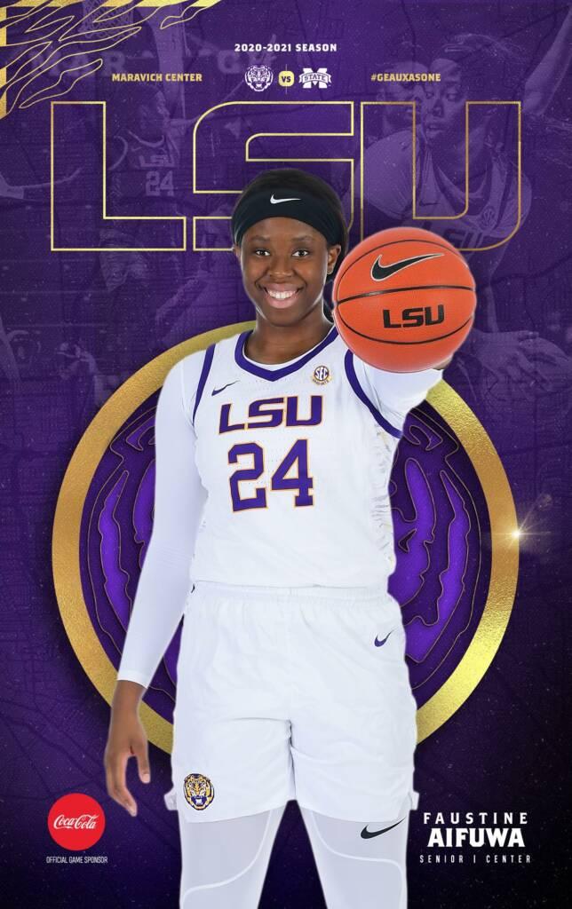 2020-21 LSU Womens Basketball Game Program Cover 10