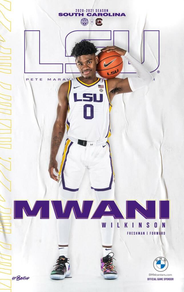 2020-21 LSU Mens Basketball Game Program Cover 8