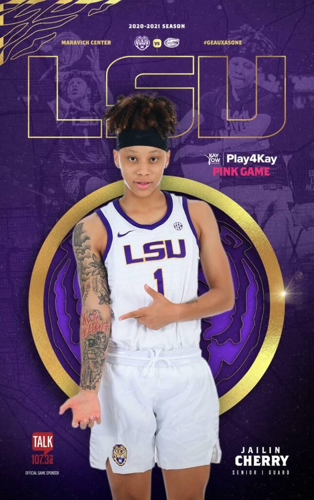 2020-21 LSU Womens Basketball Game Program Cover 8