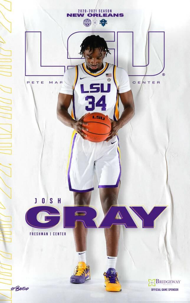 2020-21 LSU Mens Basketball Game Program Cover 2