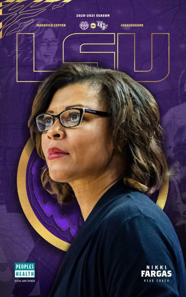 2020-21 LSU Womens Basketball Game Program Cover 1