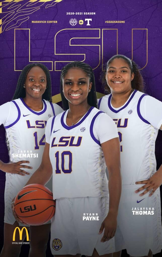 2020-21 LSU Womens Basketball Game Program Cover 4