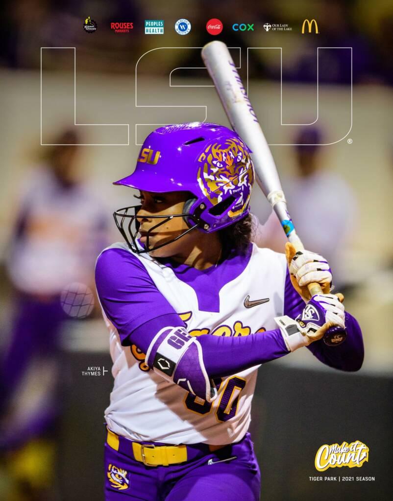 2021 LSU Softball Game Program Cover 2