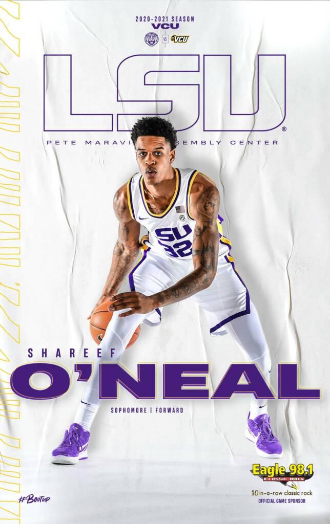 2020-21 LSU Mens Basketball Game Program Cover 4