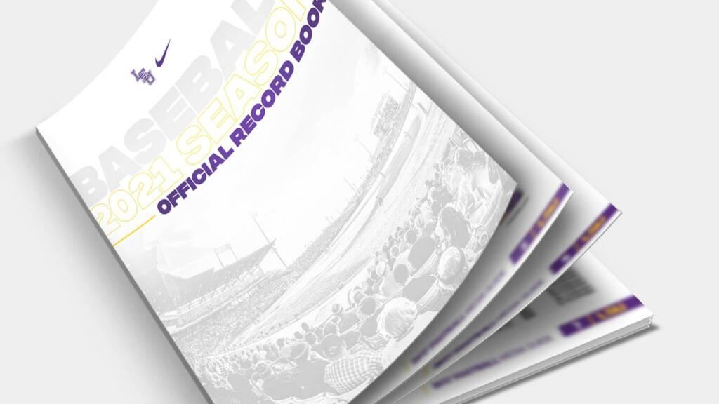 2021 LSU Baseball Record Book - mockup cover