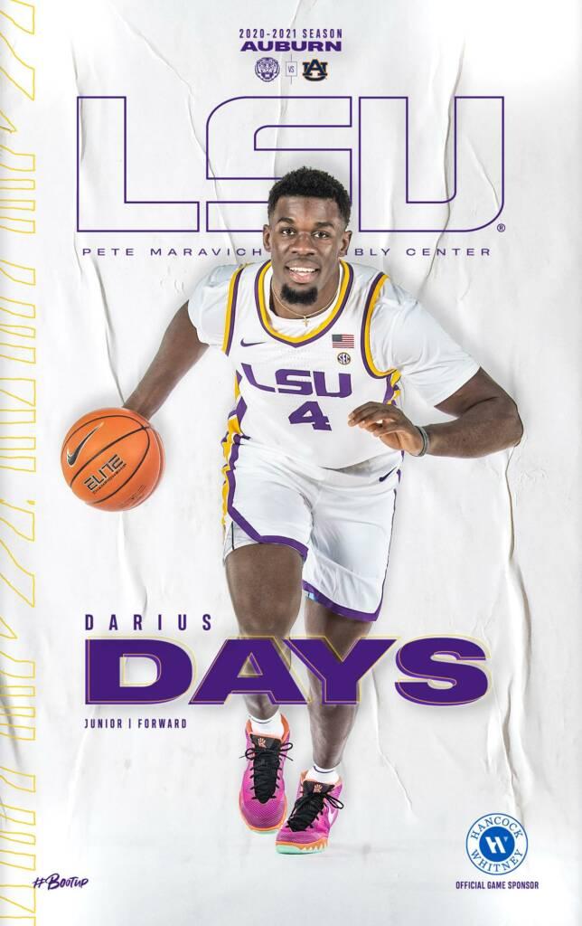 2020-21 LSU Mens Basketball Game Program Cover 13