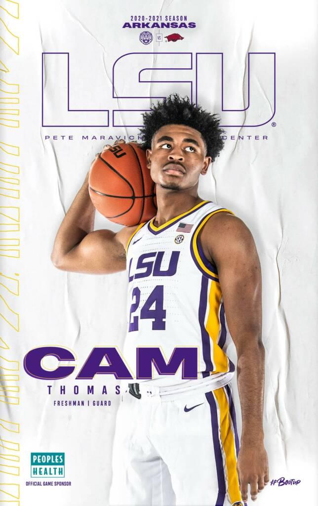 2020-21 LSU Mens Basketball Game Program Cover 7