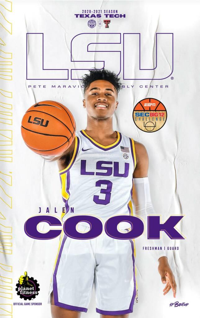 2020-21 LSU Mens Basketball Game Program Cover 10