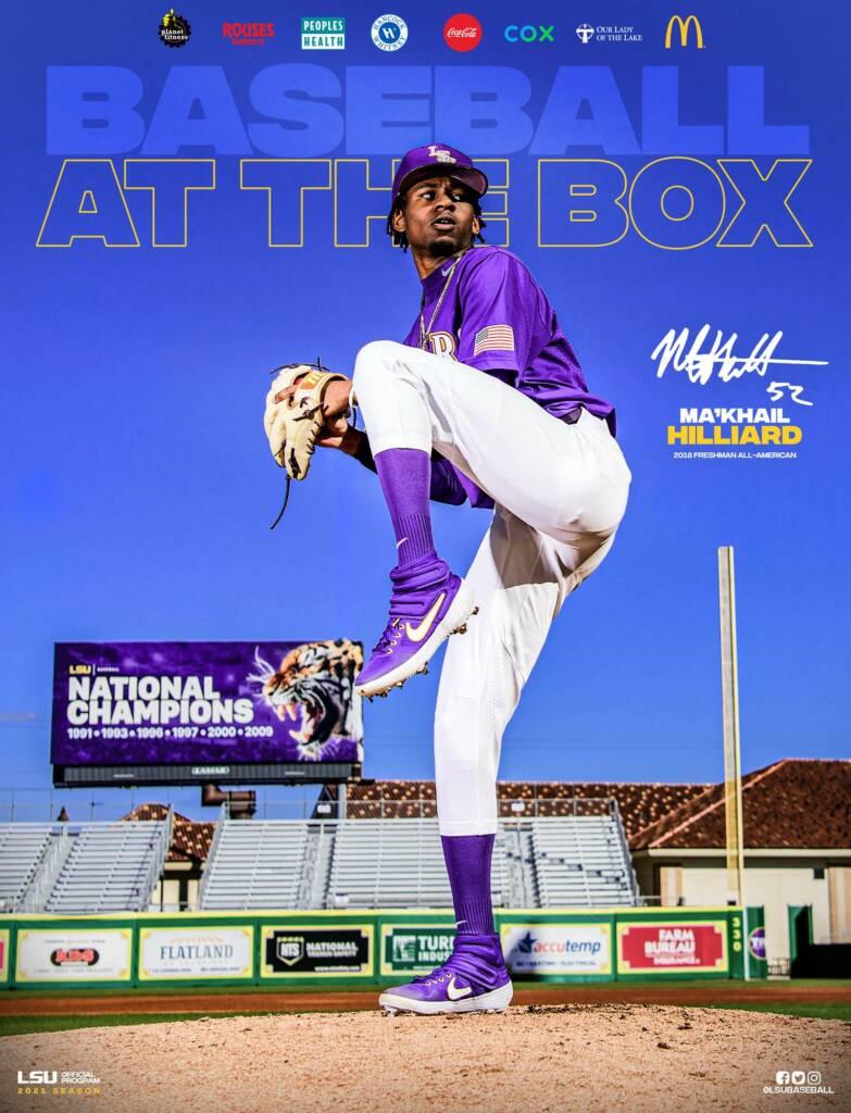 2021 LSU Baseball Game Program Cover 4