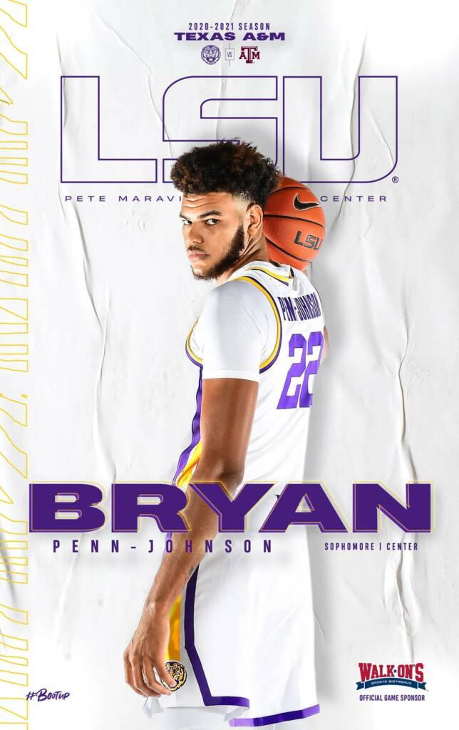 2020-21 LSU Mens Basketball Game Program Cover 5