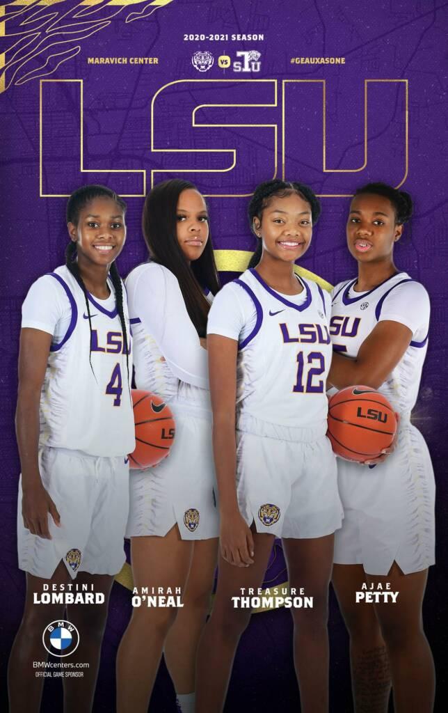 2020-21 LSU Womens Basketball Game Program Cover 2