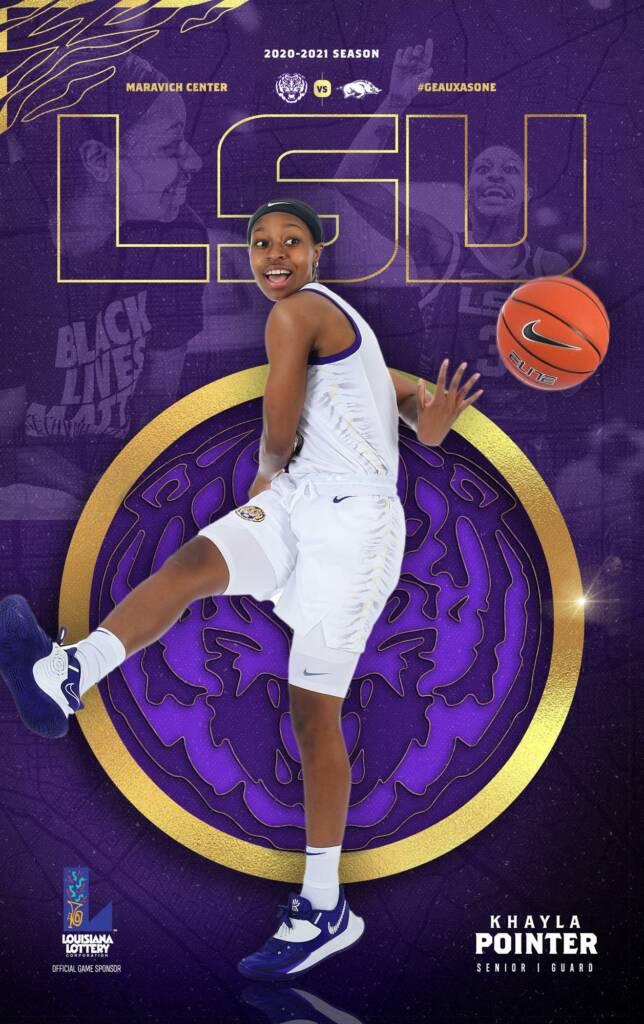 2020-21 LSU Womens Basketball Game Program Cover 9