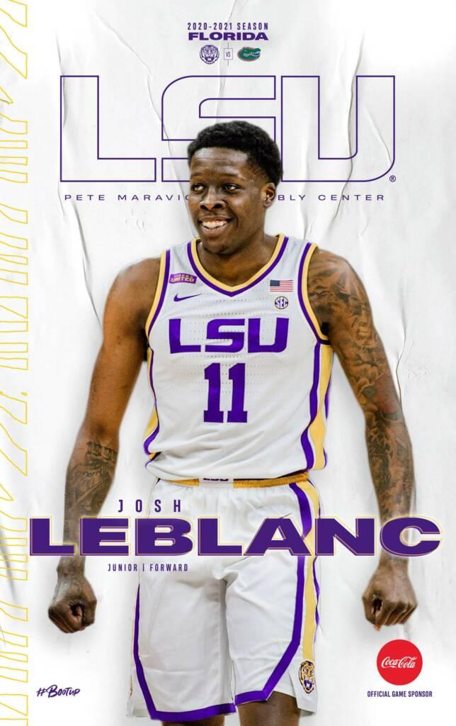 2020-21 LSU Mens Basketball Game Program Cover 11