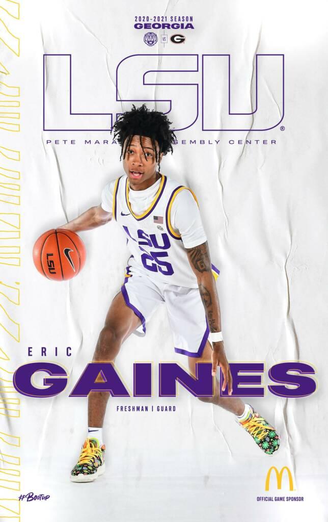 2020-21 LSU Mens Basketball Game Program Cover 6