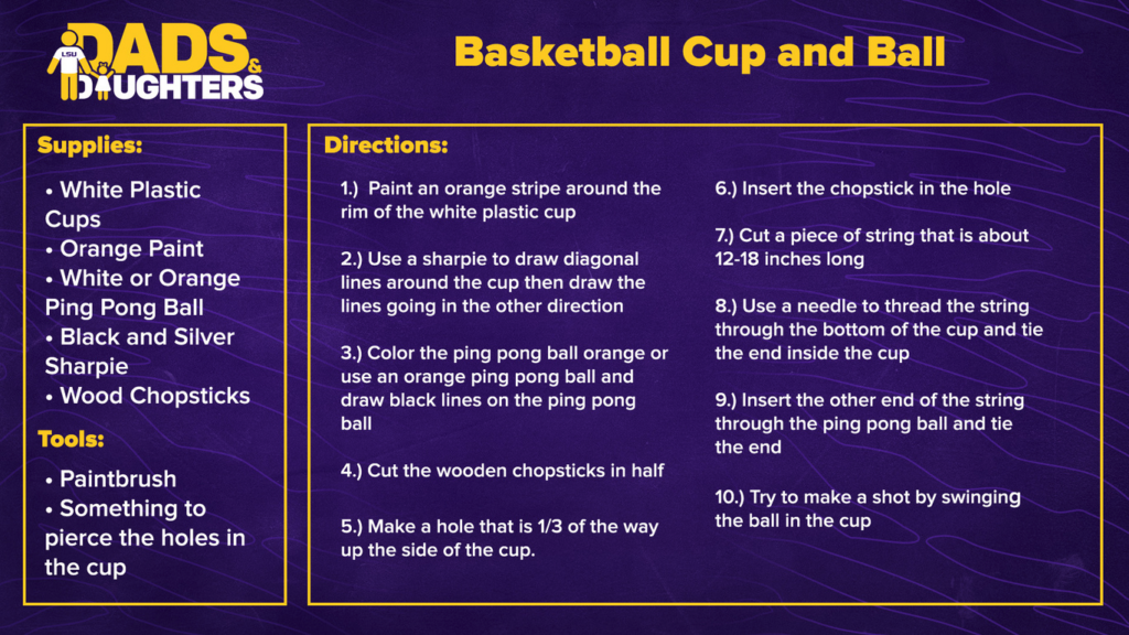 Dads and Daughters - Basketball Cup and Ball