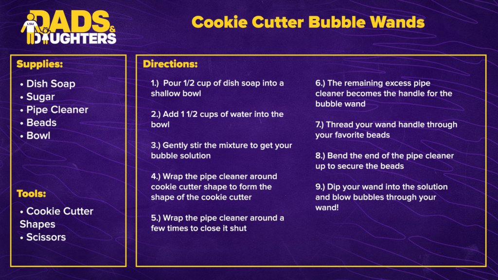 Cookie Cutter Bubble Wands - Dads and Daughters