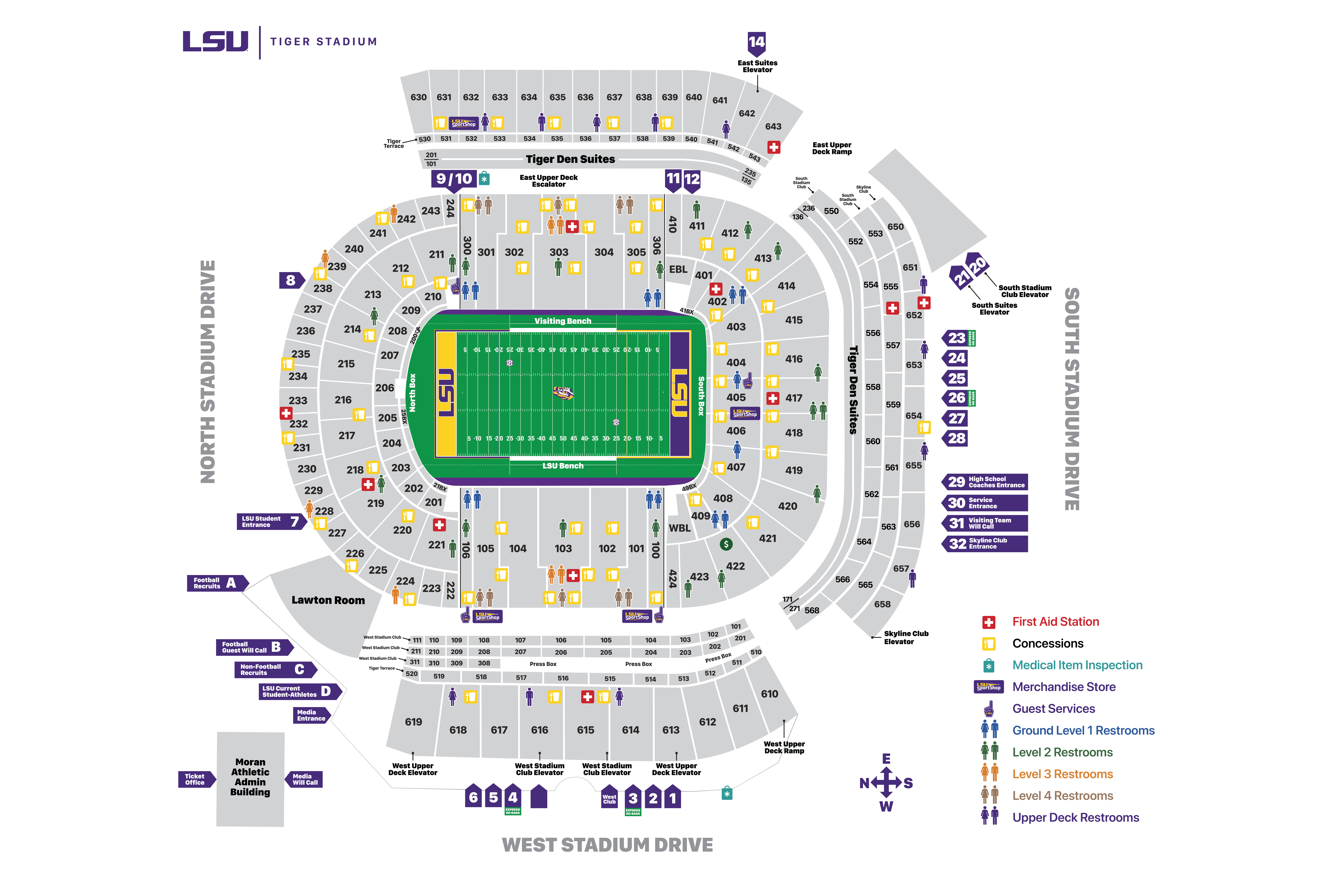 Tiger Stadium Seating Chart - Aug. 11, 2021