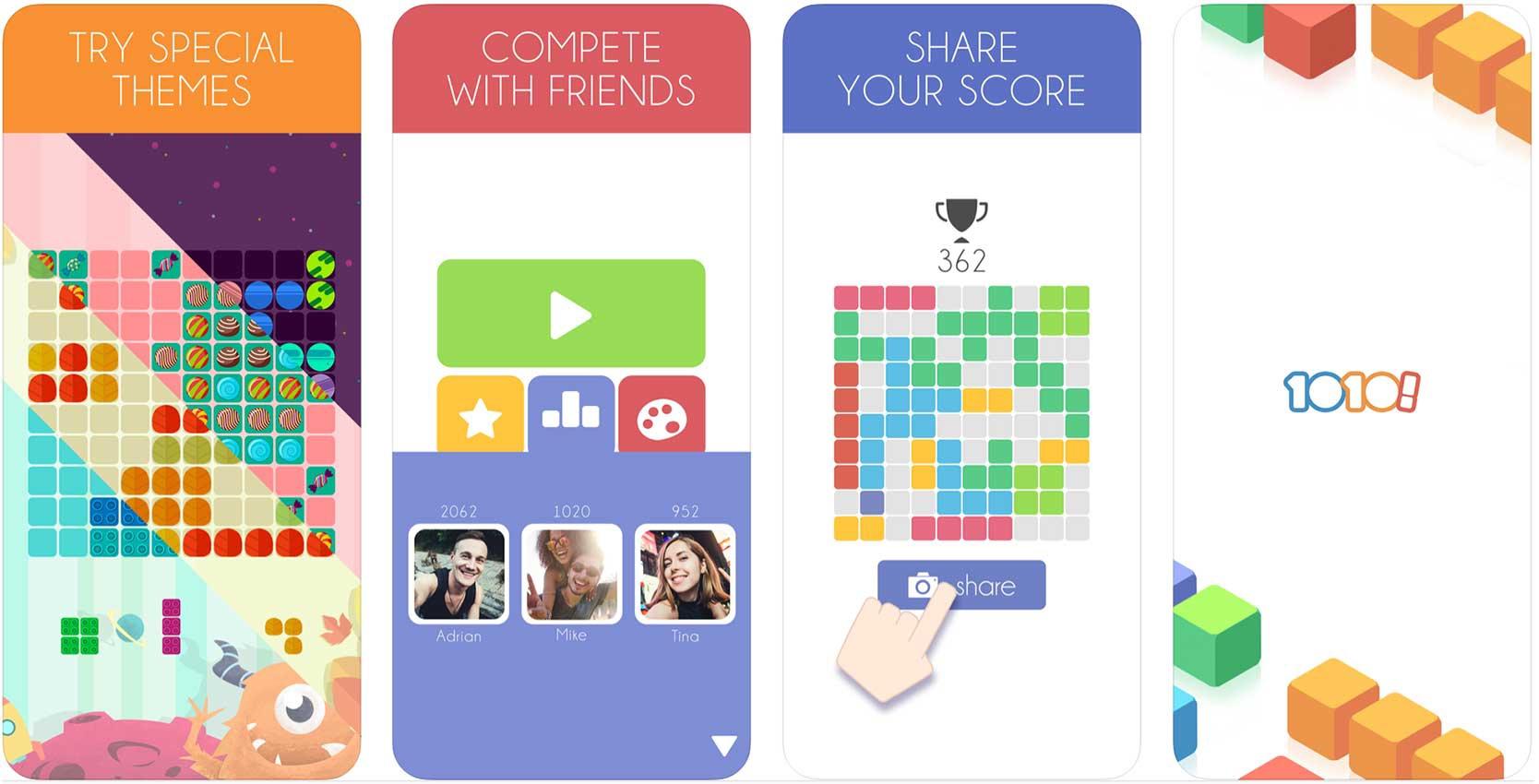 screenshot of 1010 iPhone game