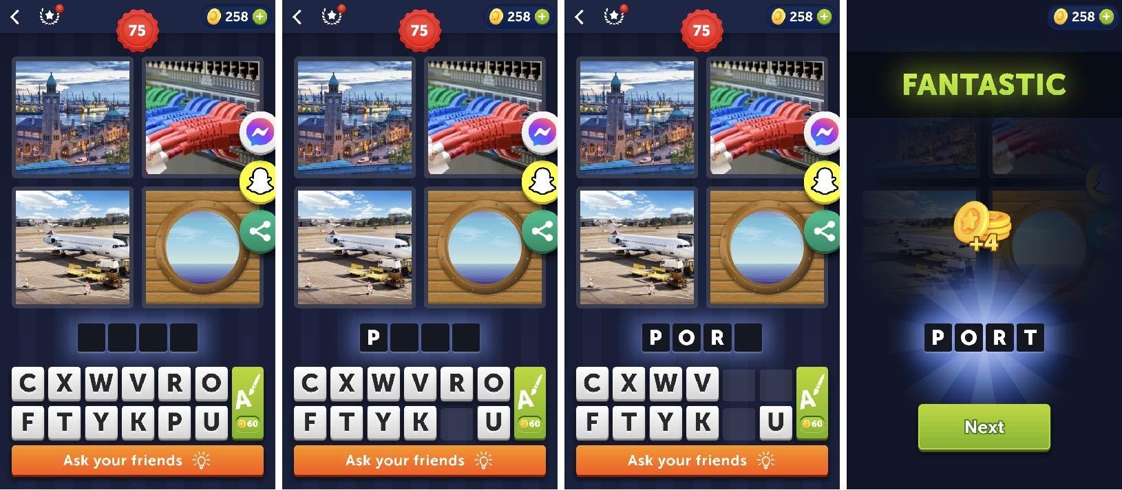 4 pics 1 word wordgame