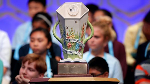 championship trophy for the Scripps National Spelling Bee 2019