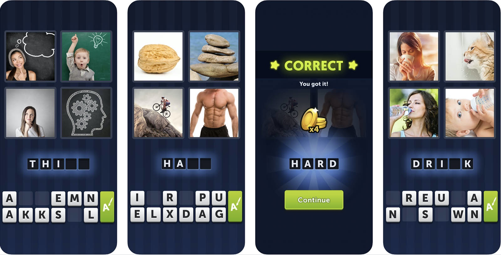 Screenshot of 4 Pics 1 Word game