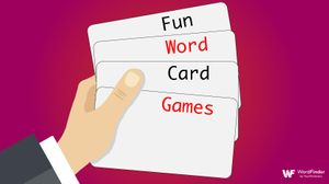 hand holding cards for word games