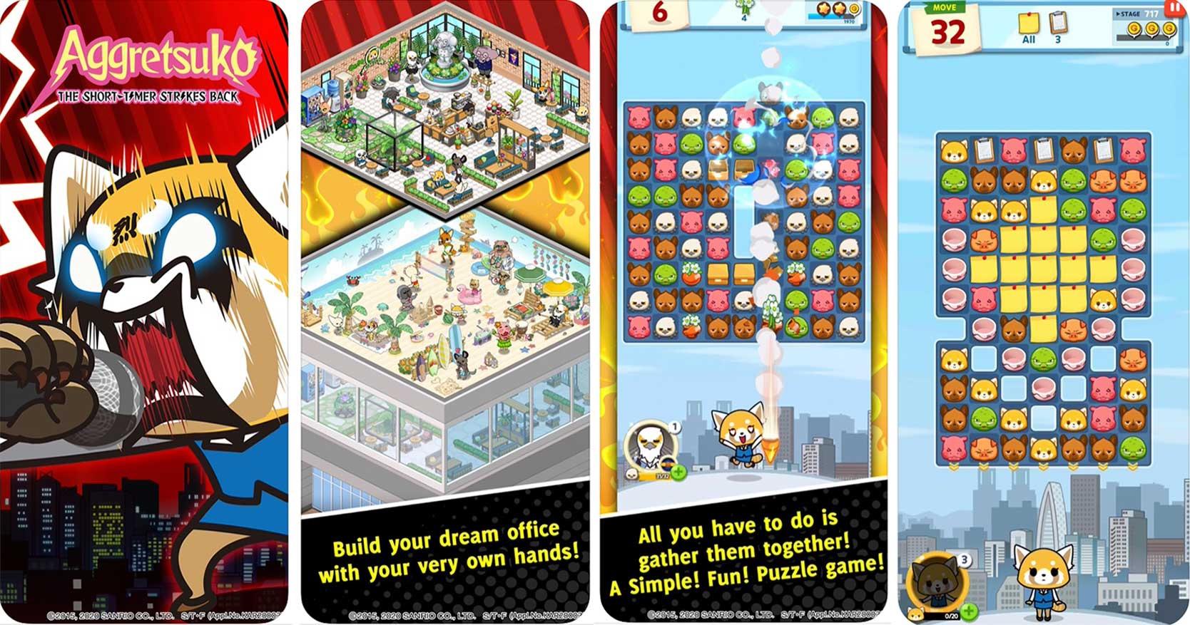 screenshot of aggretsuko iPhone game