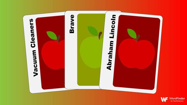 three apples to apples cards