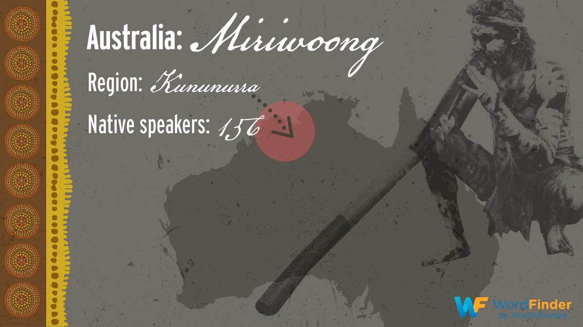 Miriwoong language in Australia