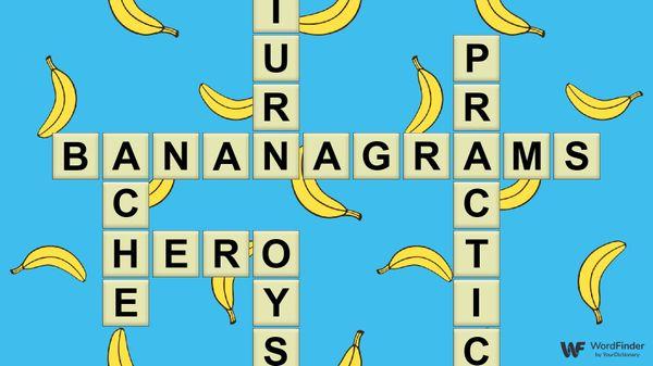 bananagrams word game tiles