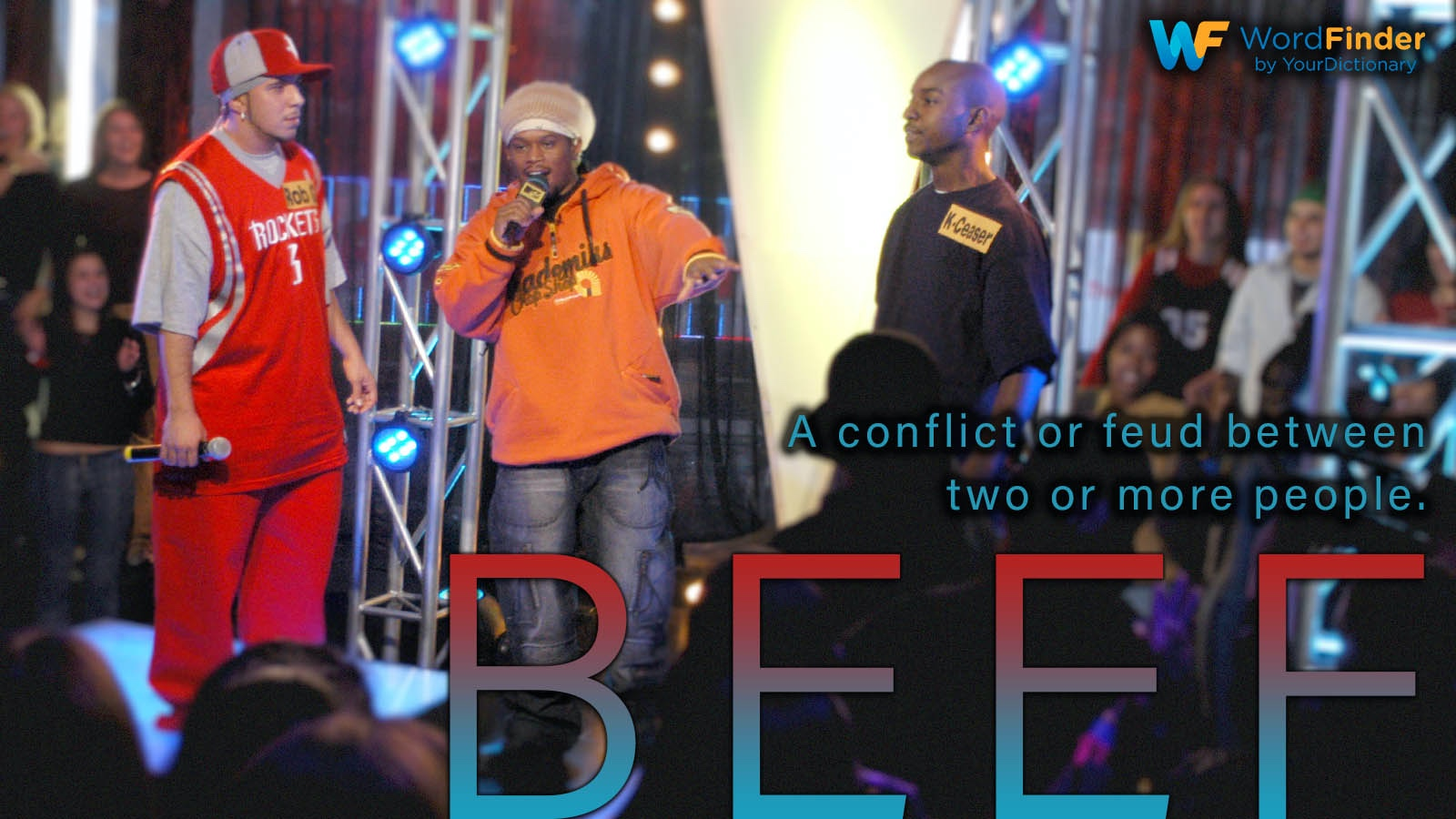 beef definition MTV MC Battle 2