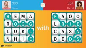 two boggle with friends boards