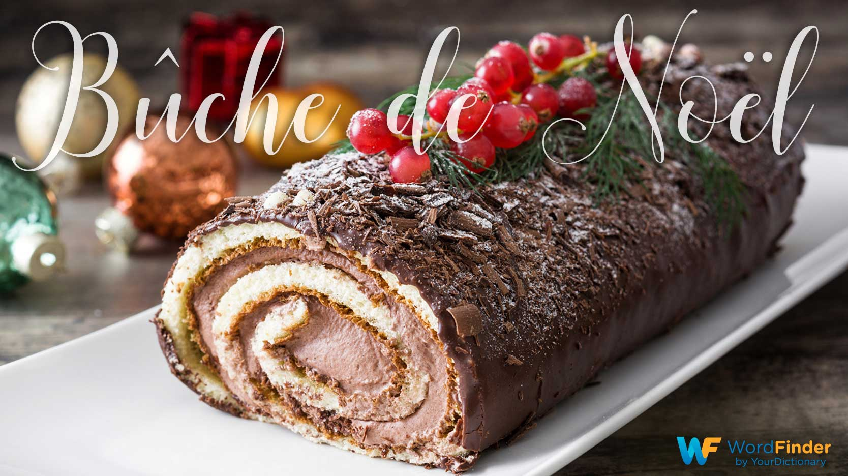 christmas word buche de noel meaning