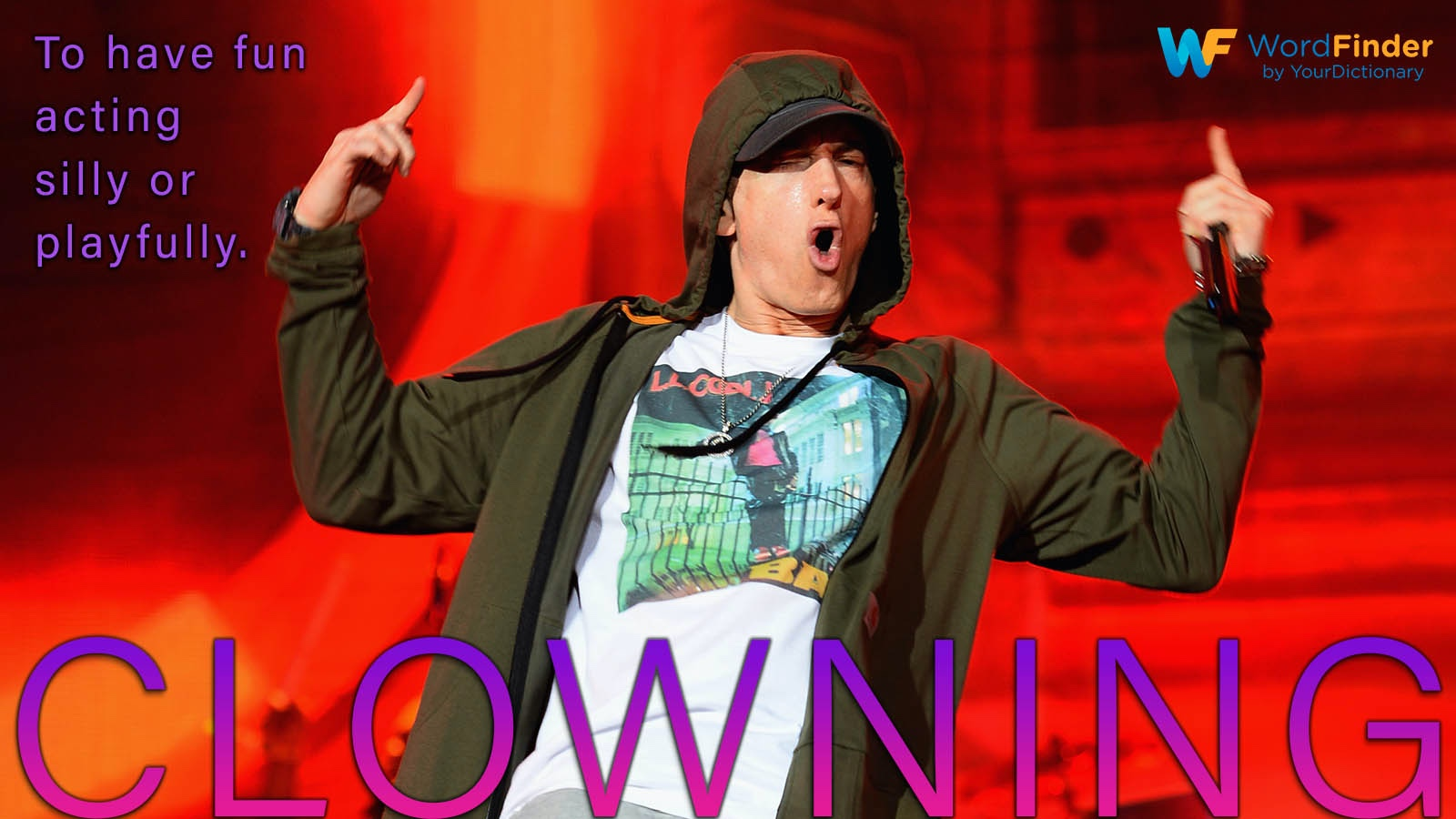 definition clowning with Image of eminem